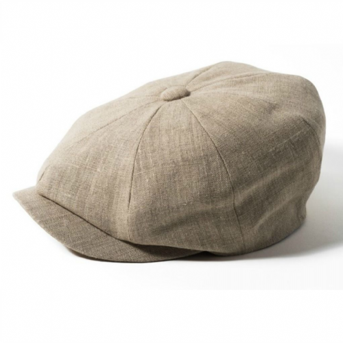 Newsboy Cap Linen - Failsworth Alfie - Biscuit